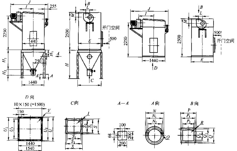 输送机 >dmc系列单机脉冲布袋除尘器   〓  产品结构   product